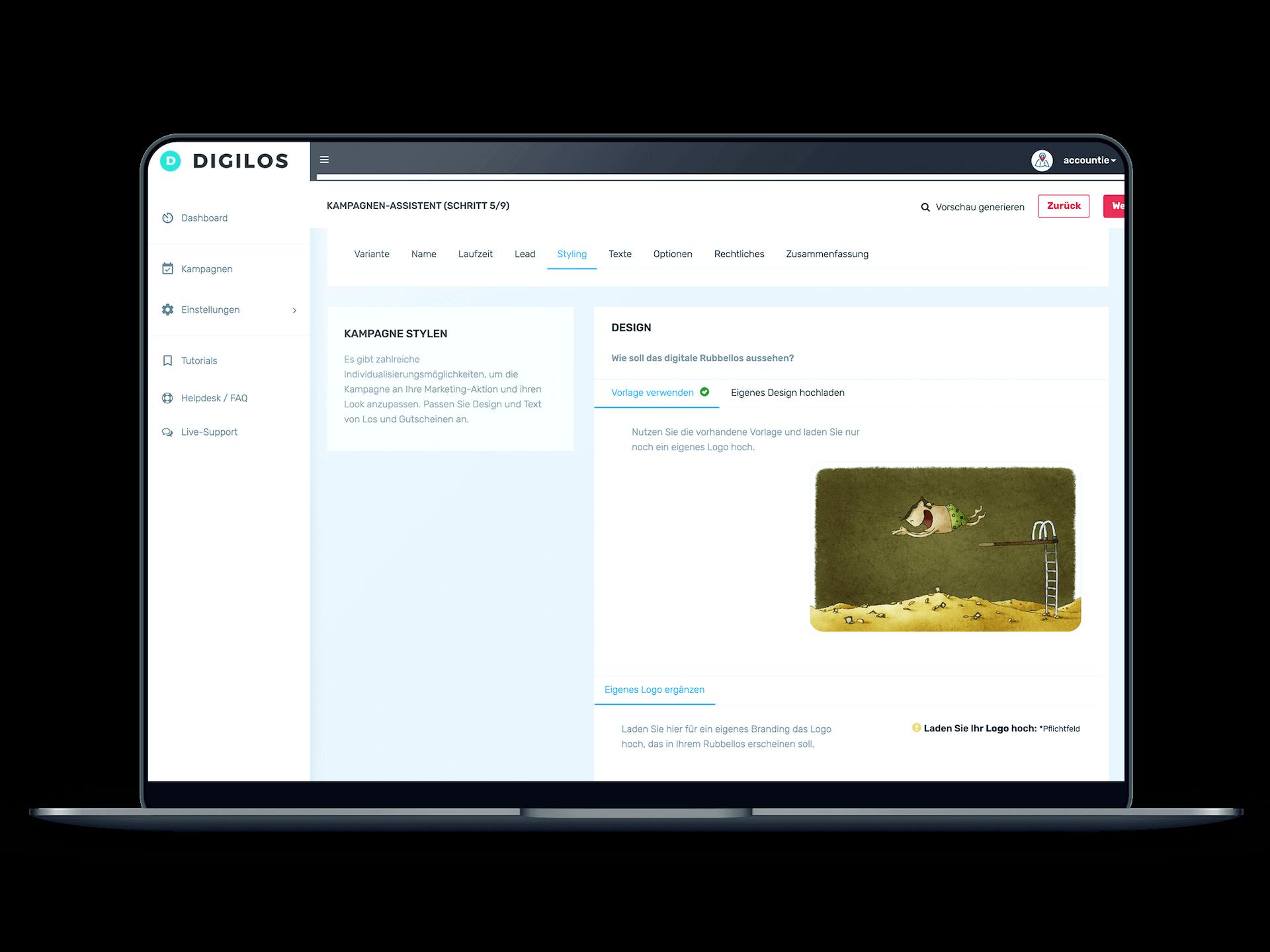 DIGILOS-Cockpit: Kampagne planen